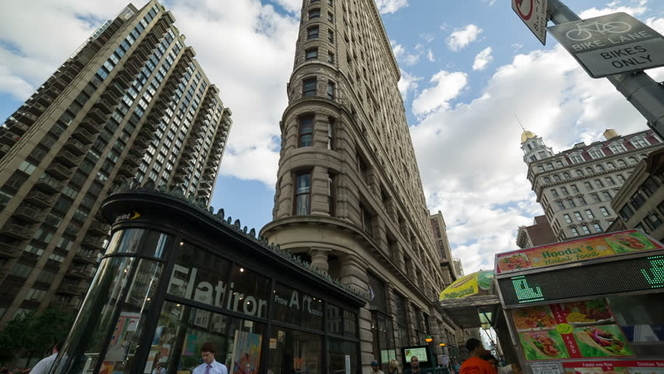 Visiting Flatiron Building, a groundbreaking Manhattan skyscraper